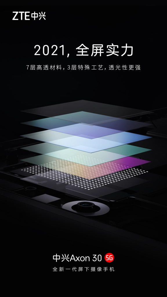 Behind 7 Layers Of Highly Transparent Material, Axon30 Hides Front Camera