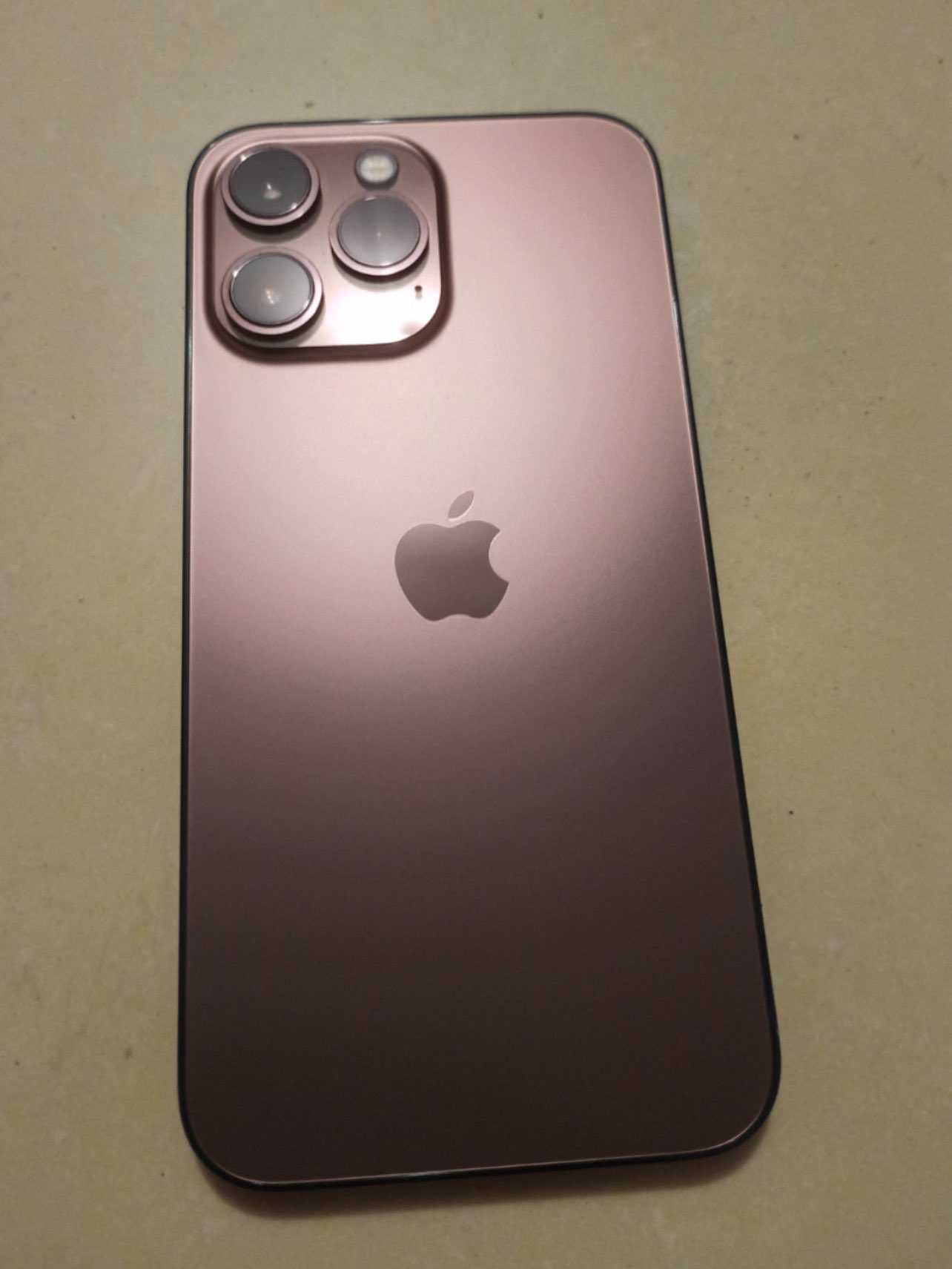 Suspected Prototype of iPhone 13 Pro in Rose Gold Color