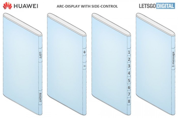 Huawei's Hyper-curved Arc Display Rendered from New Patent