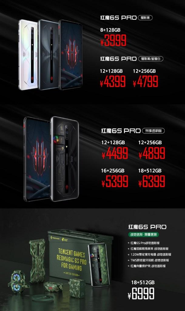 RedMagic 6S Pro Gaming Phone Price