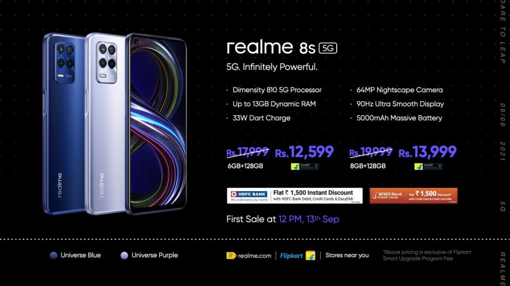 Realme 8s 5G, Realme 8i, and Realme Pad Launched in India 1