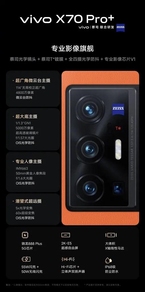 Vivo X70 Pro Plus Camera