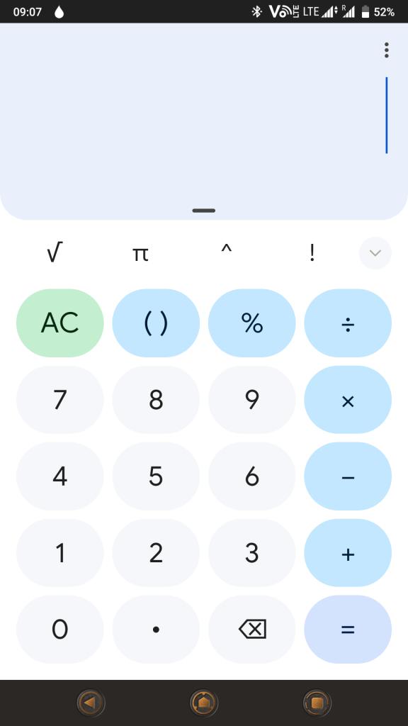 Google Calculator Material You