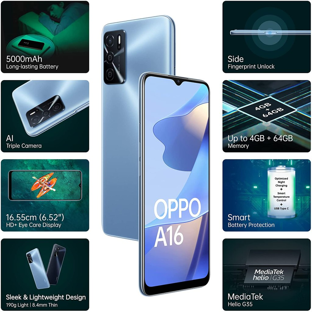 OPPO A16 Price In India and Specifications