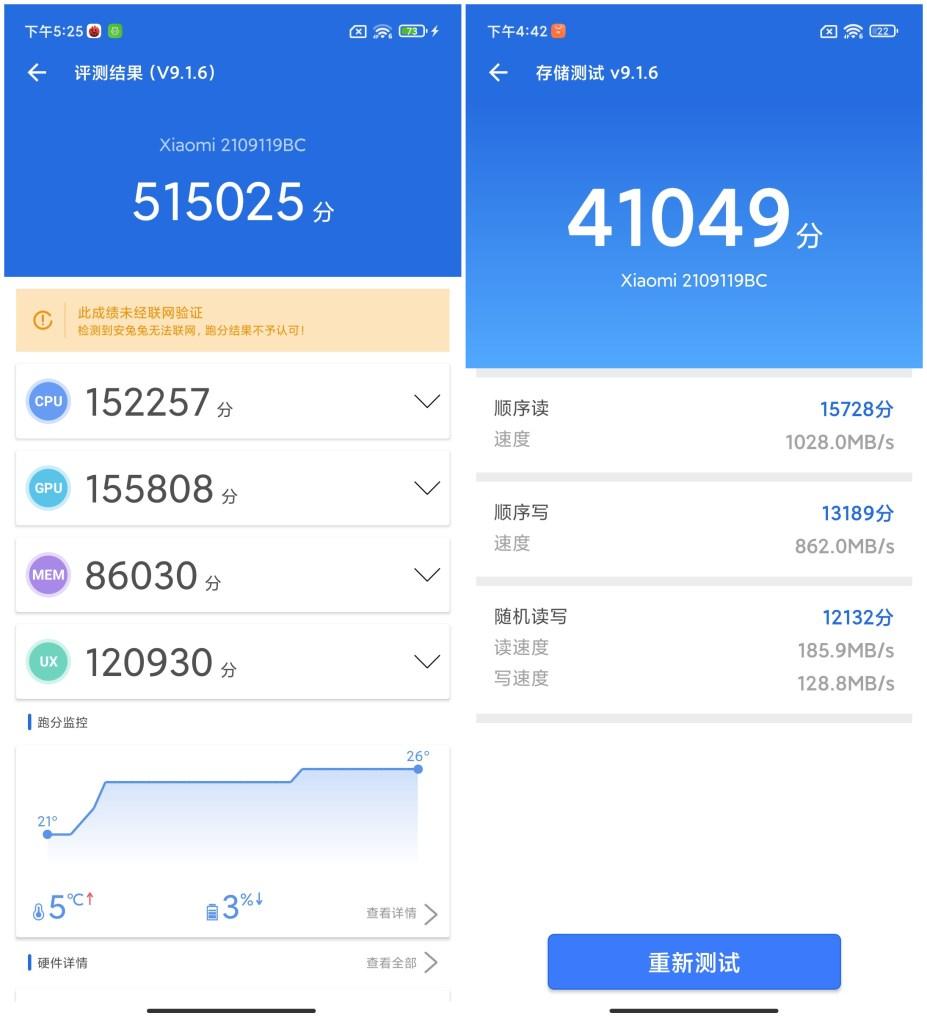 Xiaomi CIVI AnTuTu Benchmark