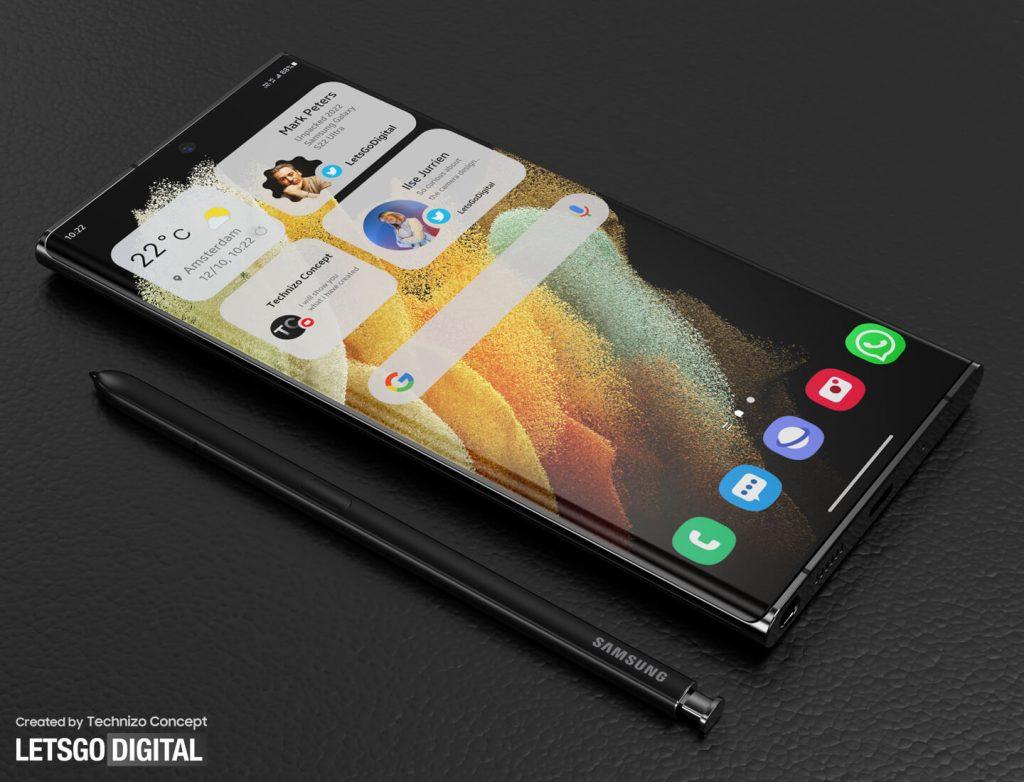 New Galaxy S22 Ultra Renderings