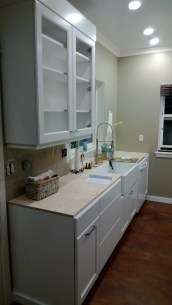 Kitchen ready for use while waiting for new counters - sparrowsoirees