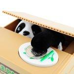 lustige Spardose der diebische Panda