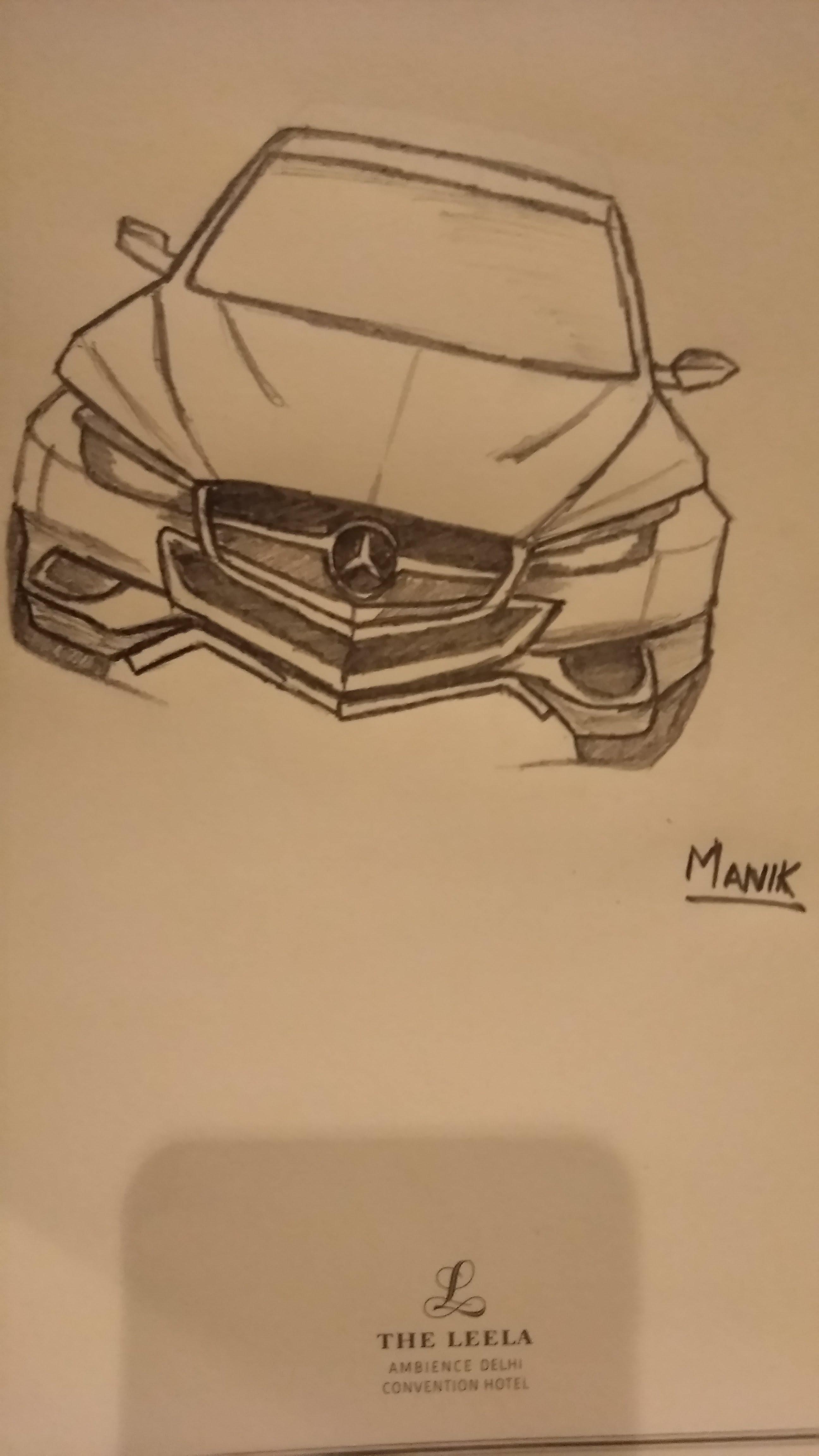 How to sketch a car