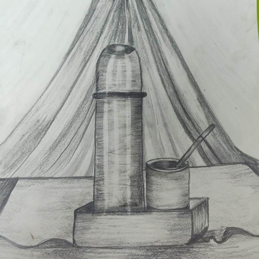 How to sketch still life objects with Pencil