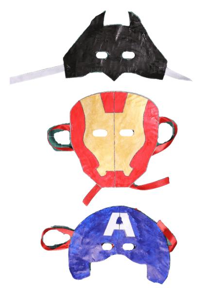 How to Make Iron Man Spider Man Bat man Hulk Mask with Paper Plates