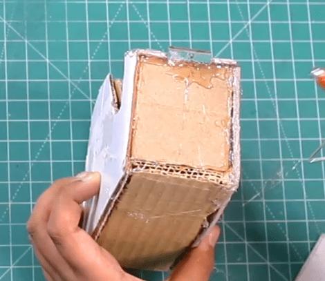 DIY cardboard Tape Box