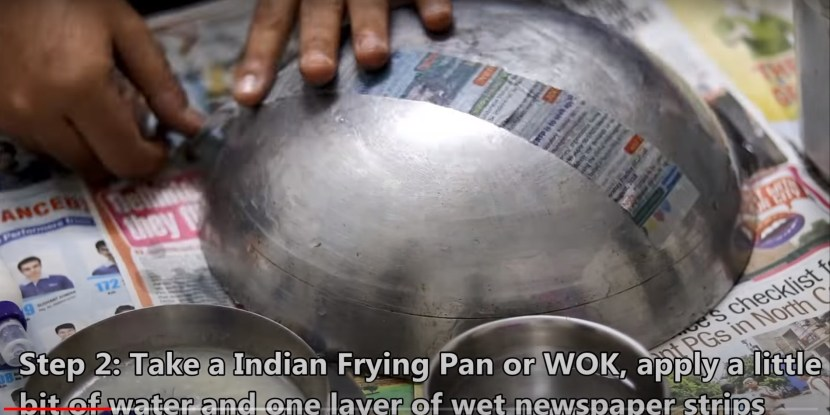 How to make Shield with paper mache