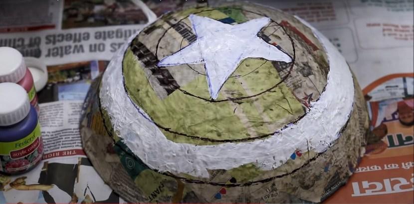 Painting Captain America Shield