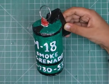 Smoke Grenade at home