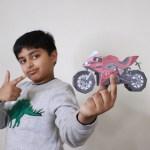 Mini Paper Motorcycle DIY