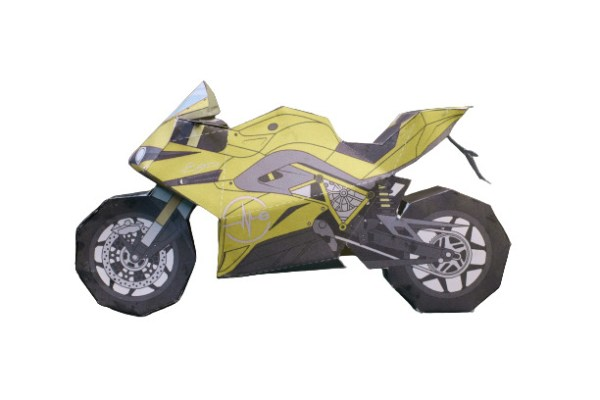 Yellow Motorcycle Template