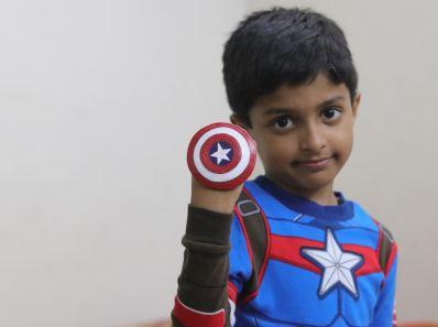 mini captain america shield