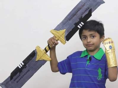 thanos ifinity sword with cardboard