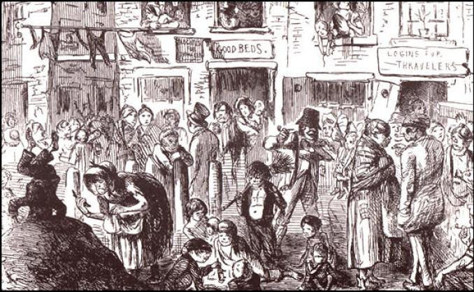 A Court for King Cholera, Punch Magazine (October, 1852)