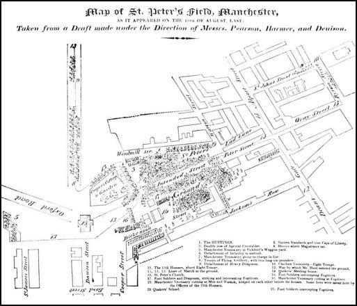 Map of St Peter's Field