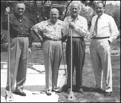J. Edgar Hoover, Royal Miller, Clyde Tolsonand Joseph McCarthy on holiday in California.