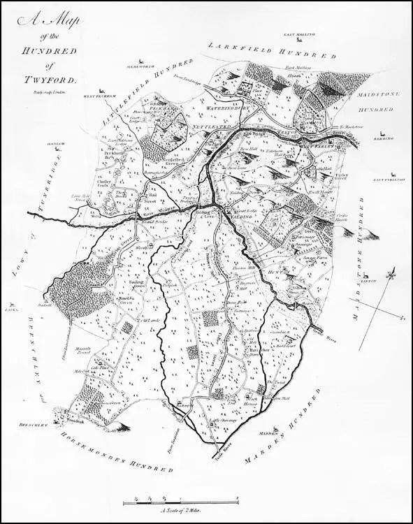Yalding Map 1797