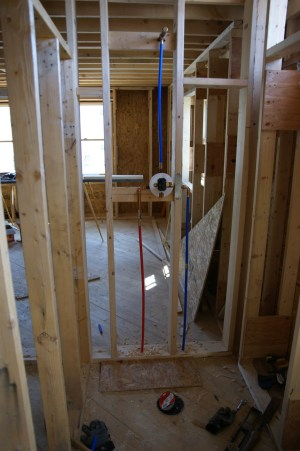 Rough in plumbing done | Design & Construction of Spartan