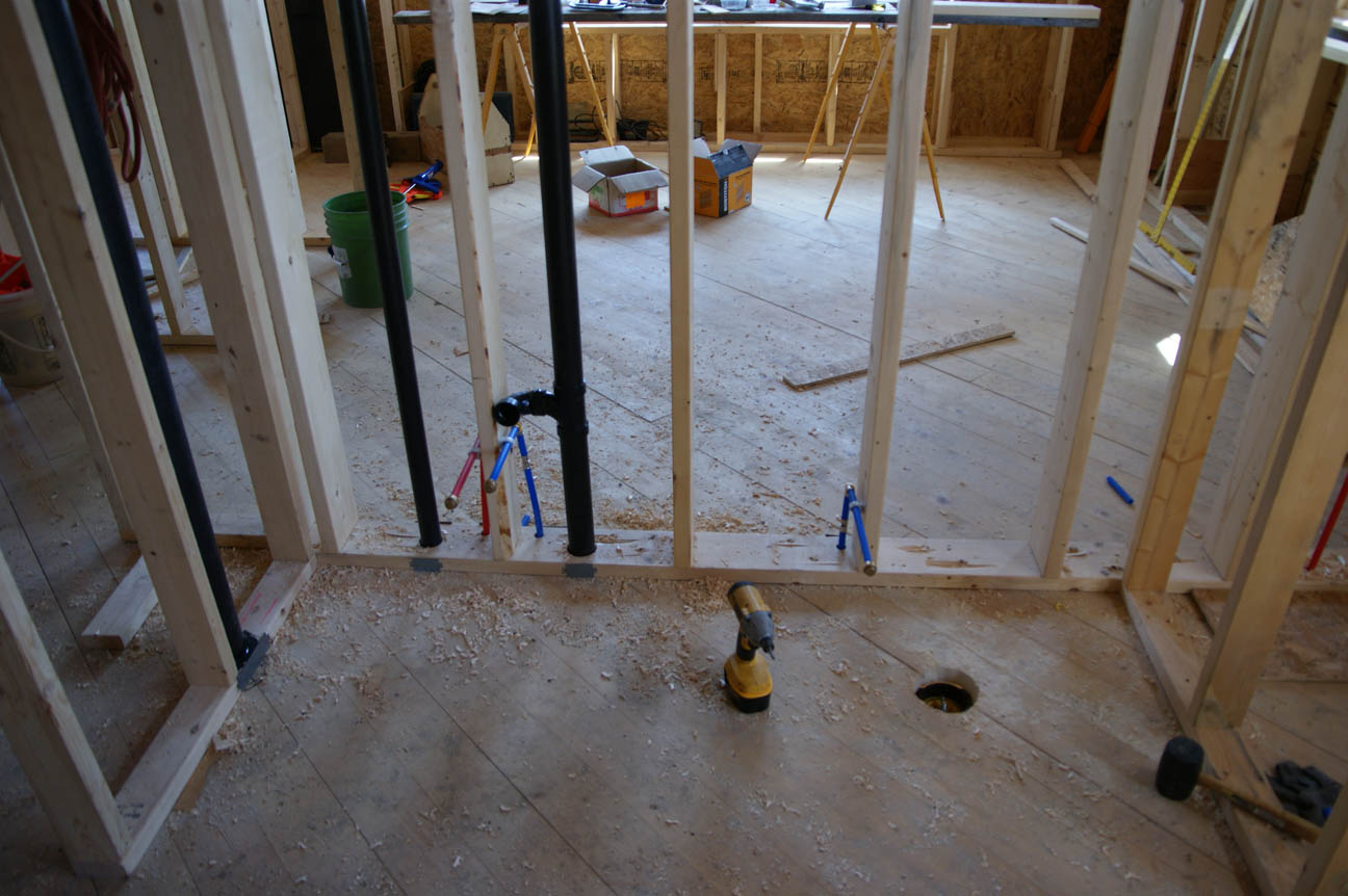 Rough in plumbing done  Design  Construction of Spartan  Hannahs Home