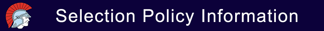 Selection Policy Banner