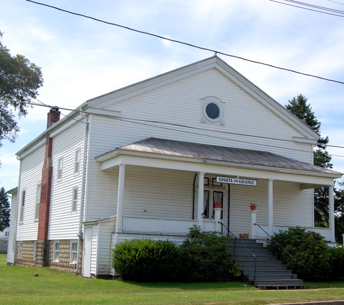 The Presbyterian Church Building (since 1912, owned by the Grange) as it appears today on the same lot.