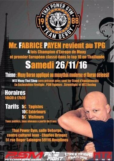 Stage de Muay Boran avec Fabrice Payen