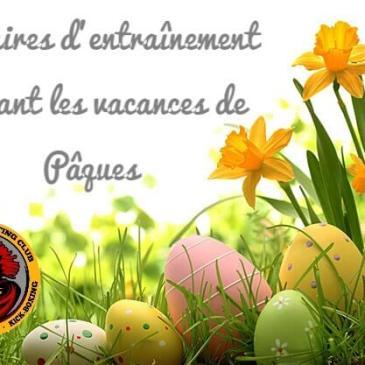 Horaires pendant les vacances de Pâques