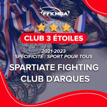 ⭐️⭐️⭐️ Une 3ème étoile pour le Spartiate Fighting Club d'Arques ⭐️ ⭐️⭐️