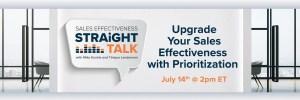 upgrade sales effectiveness