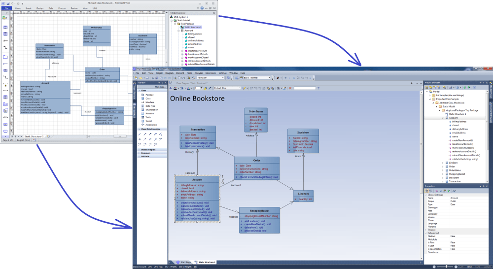 medium resolution of moving visio diagrams into enterprise architect