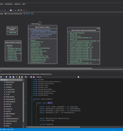 dark theme including code editing notes and diagrams  [ 1920 x 1080 Pixel ]