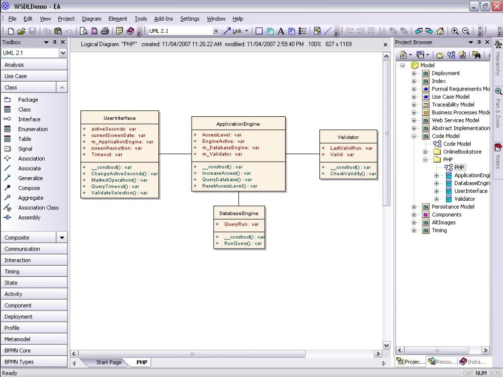 medium resolution of the unified modeling languages php class diagrams