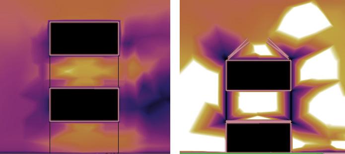 Section rectangular (left), section triangular (right)