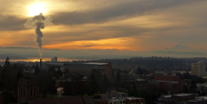 Sunrise over UW
