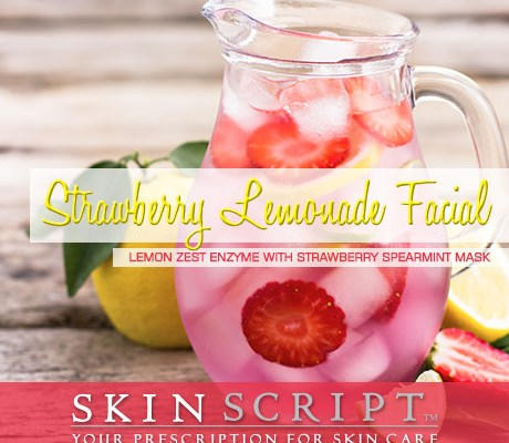 Strawberry Lemonade facial combines the mouth-watering scents of strawberry and lemon