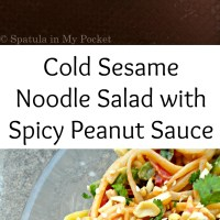 Cold Sesame Noodle Salad with Spicy Peanut Sauce