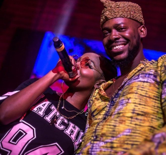 Adekunle Gold and Simi were filmed goofing around as they enjoyed time outdoors with their newborn daughter, Adejare Kosoko.