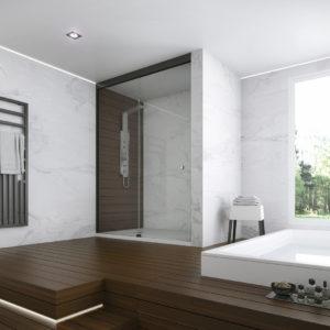 mamparas para duchas grandes - Duchas Grandes
