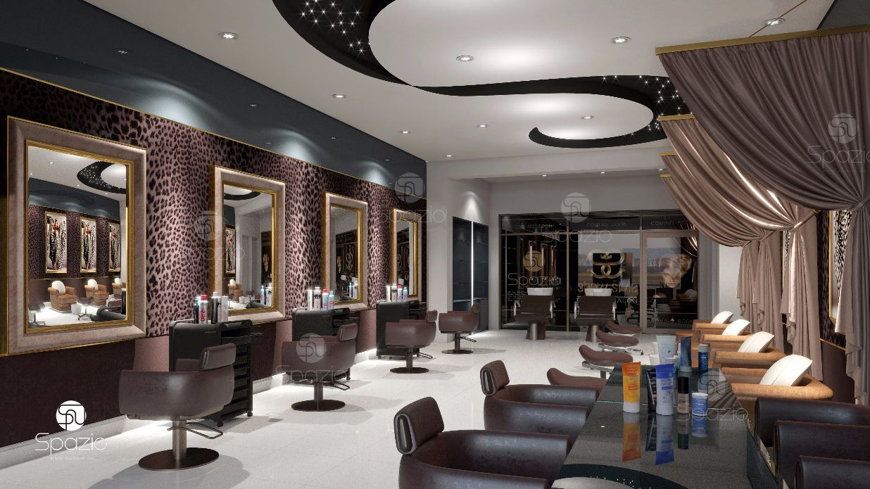 Modern beauty salon interior design in Dubai HairNailSpa  Spazio