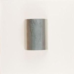 Untitled 03 grey - 50X50 - Tela + lamiera su telaio - Vernice ad olio monocromatico - 2010