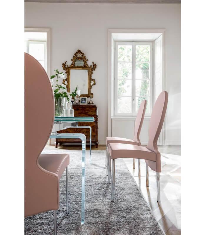 Qualità garantita a prezzi convenienti. Sedia Salotto Schienale Alto Design Moderno Vivienne Tonin Casa