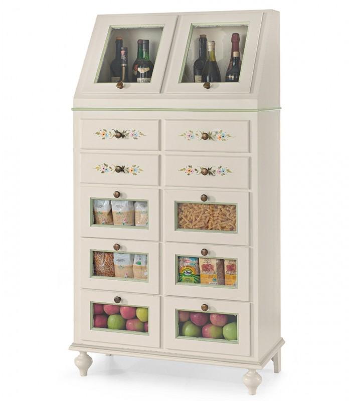 Mobili singoli con ruote, colorati e moderni per comporre la tua cucina. Mobile Dispensa Classico Cucina Legno