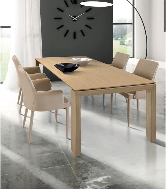 Bakaji tavolo sala da pranzo cucina forma rettangolare design moderno in legno mdf finitura in melammina dimensione 120 x 80 x 74 cm arredamento casa (acero). Tavolo Design Moderno In Legno Rovere Chiaro Spazio Casa