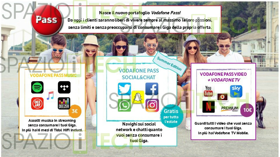 Vodafone Happy Friday del 23 giugno con: Vodafone Pass Social & Chat